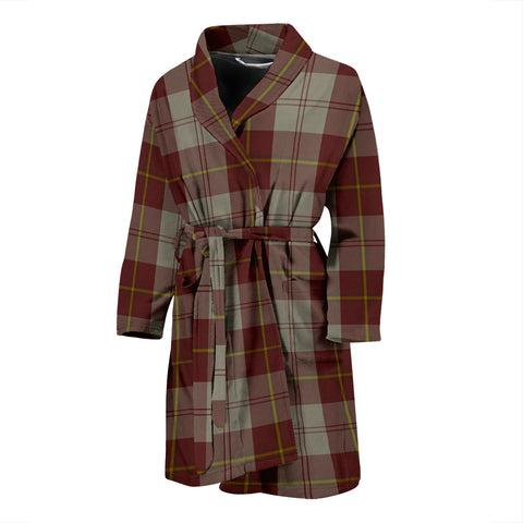 Cunningham Burgundy Dancers Tartan Men's Bath Robe