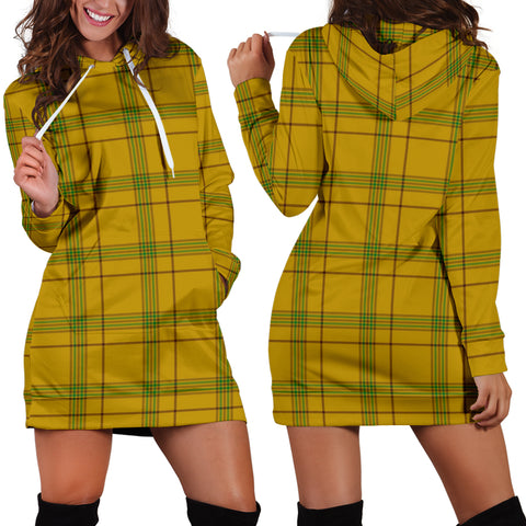 Houston Tartan Hoodie Dress HJ4 |Women's Clothing| 1sttheworld