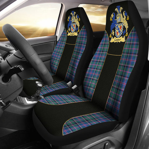 Cooper Tartan Car Seat Cover - Golden Clan Badge