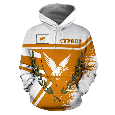 Image of Cyprus Hoodie Painting Style | 1sttheworld.com