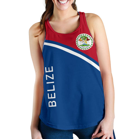 Belize Women's Racerback Tank - Curve Version font