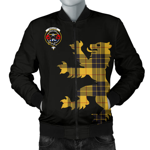 Image of MacLeod Tartan Lion And Thistle Bomber Jacket for Men