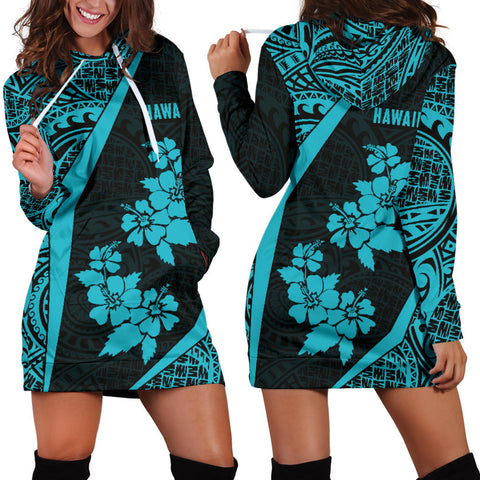 Hawaii Polynesian Women's Hoodie Dress Hibiscus Hex Th5 |Women's Clothing| 1sttheworld