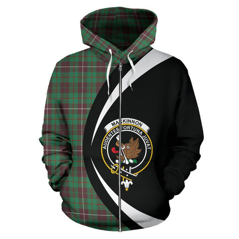 MacKinnon Hunting Ancient Tartan Circle Zip Hoodie