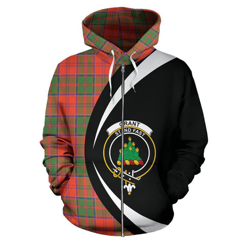 Grant Ancient Tartan Circle Zip Hoodie