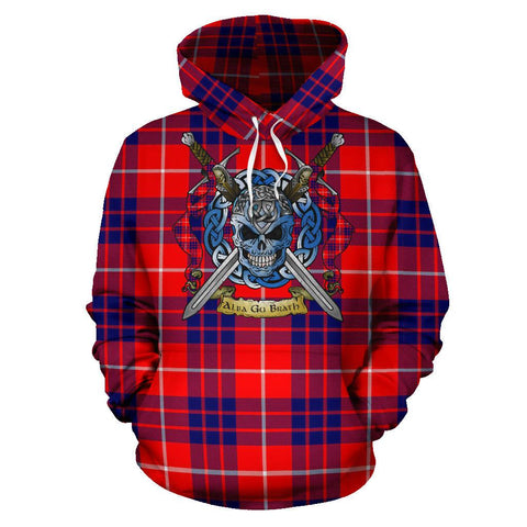 Hamilton Modern Tartan Hoodie Celtic Scottish Warrior A79 | Over 500 Tartans | Clothing | Apaprel