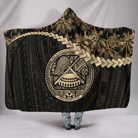American Samoa Hooded Blanket Golden Coconut | Love The World