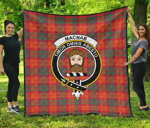 MacNab Ancient Tartan Clan Badge Premium Quilt | 1sttheworld.com