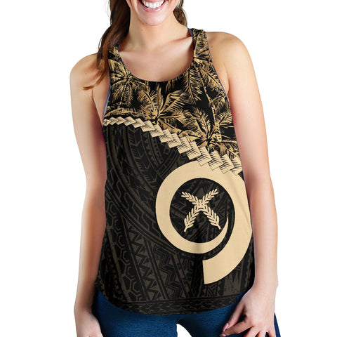 Vanuatu Women's Racerback Tank Golden Coconut | Love The World