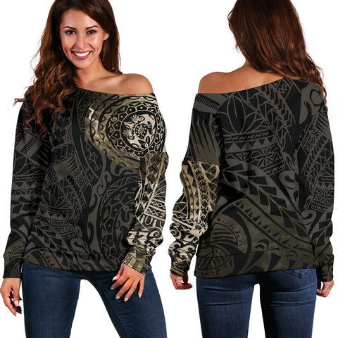 Polynesian Tattoo Style Off Shoulder Sweater | Women, clothing, polynesia, polynesian, hot sale, apparel, for girl