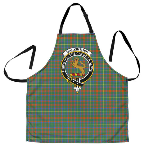 Image of MacKintosh Hunting Ancient Tartan Clan Crest Apron HJ4