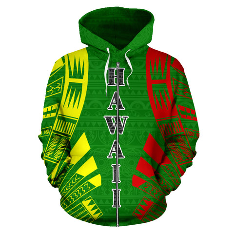Image of Hawaii, Kanaka Maoli, All Over Zip-Up Hoodie, Hawaii Kanaka Maoli Zip-Up Hoodie, zip-up hoodie