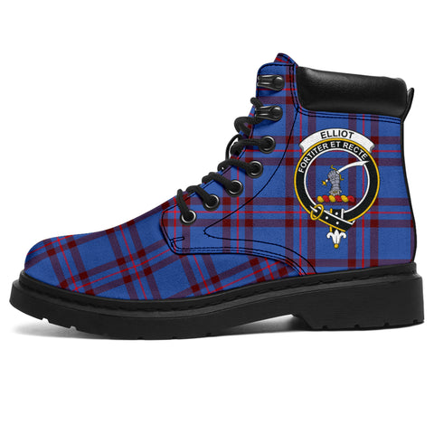 Elliot Modern Tartan Clan Crest All-Season Boots HJ4