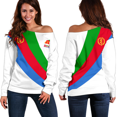 Image of Eritrea Off Shoulder Sweater Special Flag A7