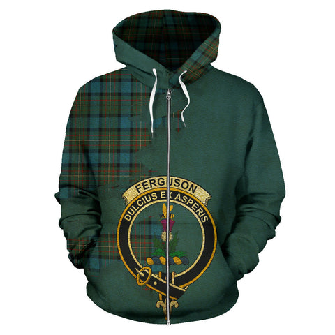 Fergusson Ancient  Royal All Over Hoodie (Zip)