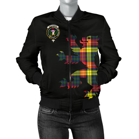 Buchanan Tartan Lion And Thistle Bomber Jacket for Women