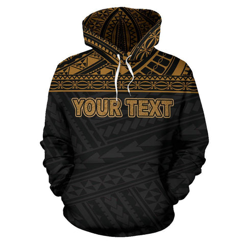 Poly All Over Zip-Up Hoodie - Polynesian Gold Custom Version - BN09