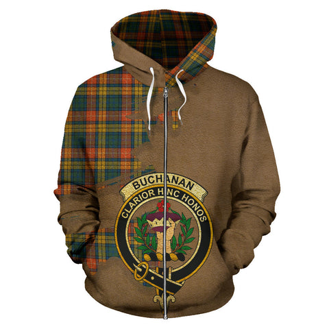 Buchanan Ancient  Royal All Over Hoodie (Zip)