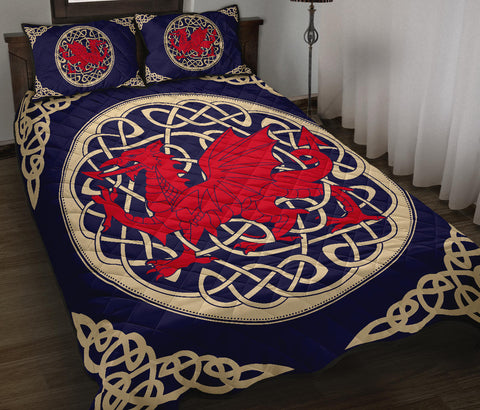 Wales Quilt Bed Set - Welsh Dragon Quilt Bed