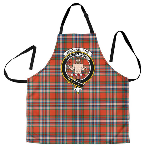 Image of MacFarlane Ancient Tartan Clan Crest Apron