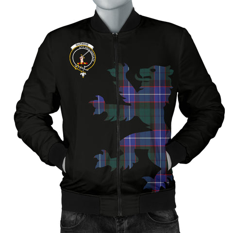 Guthrie Tartan Lion And Thistle Bomber Jacket for Men