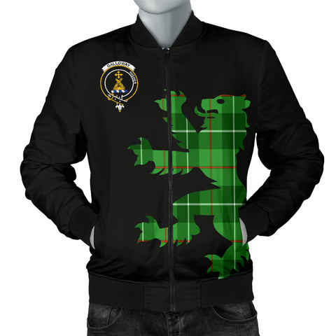 Image of Galloway Tartan Lion And Thistle Bomber Jacket for Men