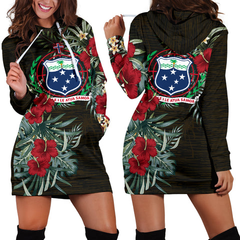 Image of Samoa Hibiscus Hoodie Dress A7