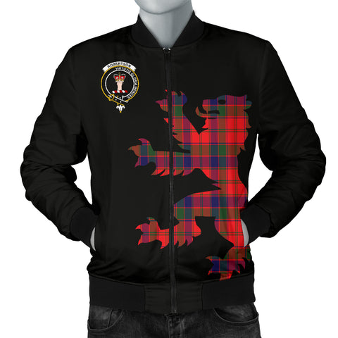 Robertson Tartan Lion And Thistle Bomber Jacket for Men
