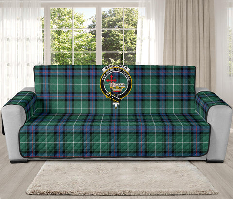 Image of MacDonald of the Isles Hunting Ancient Tartan Clan Badge Oversized Sofa Protector