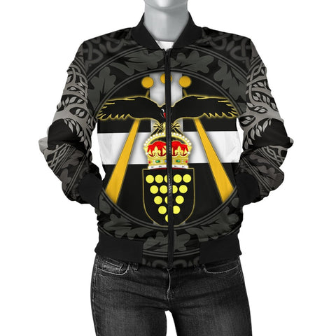 Cornish Symbols Women's Bomber Jacket - The Celtic spirit of Cornwall - BN21