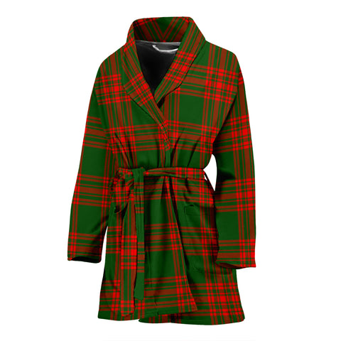 Menzies Green Modern Tartan Women's Bath Robe