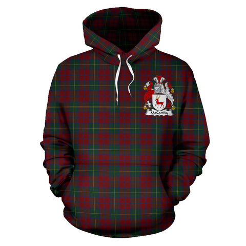 Image of Mccarthy Tartan Clan Badge Hoodie HJ4