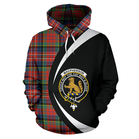 Image of (Custom your text) MacPherson Ancient Tartan Circle Hoodie