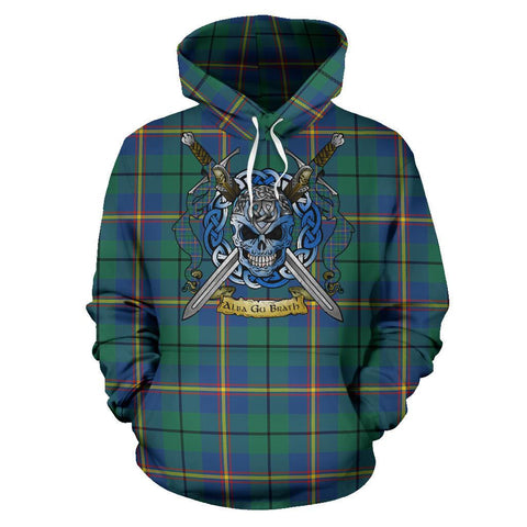 Image of Carmichael Ancient Tartan Hoodie Celtic Scottish Warrior A79 | Over 500 Tartans | Clothing | Apaprel