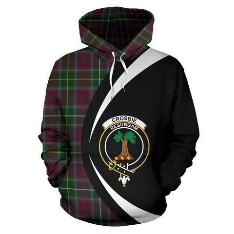 (Custom your text) Crosbie Tartan Circle Hoodie
