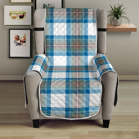 Image of Stewart Muted Blue Tartan Chair Sofa Protector K7