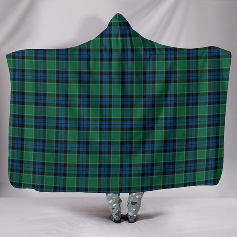 Graham of Menteith Ancient, hooded blanket, tartan hooded blanket, Scots Tartan, Merry Christmas, cyber Monday, xmas, snow hooded blanket, Scotland tartan, woven blanket
