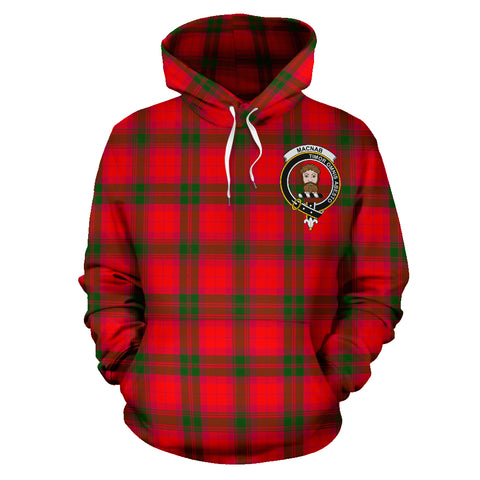 Image of Macnab Tartan Clan Badge Hoodie HJ4