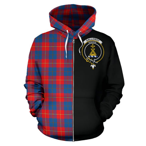 Galloway Red Tartan Hoodie Half Of Me | 1sttheworld.com