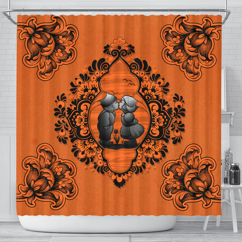Nederland Shower Curtain - Dutch Delft Blue