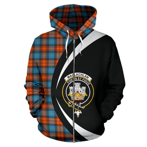 Image of MacLachlan Ancient Tartan Circle Zip Hoodie
