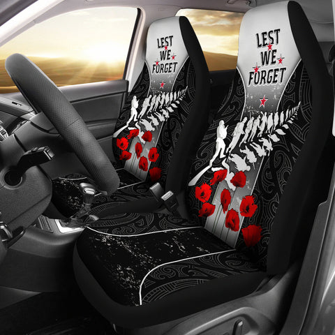New Zealand Anzac Car Seat Covers - Lest We Forget Poppy | 1sttheworld
