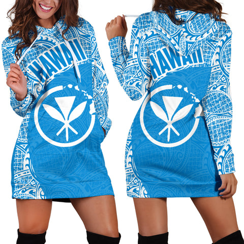 Hawaii Hoodie Dress Kanaka Maoli 09 TH90 |Women's Clothing| 1sttheworld