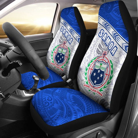 Samoa Rugby Car Seat Covers Spirit Manu Samoa White 2 | 1sttheworld