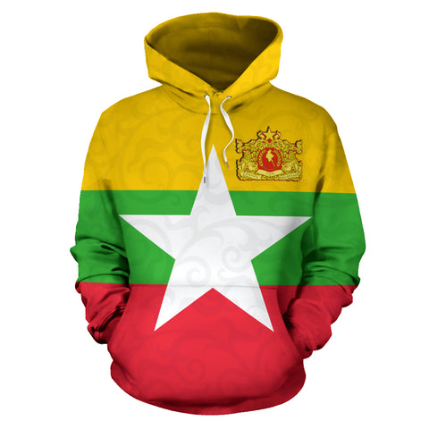 Image of Myanmar Hoodie Myanmar Map TH5
