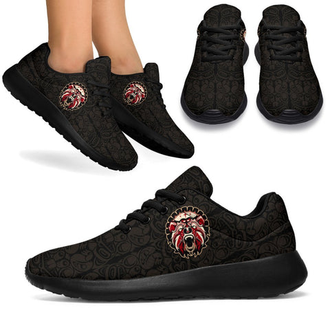 Image of 1stCanada Sport Sneakers Haida Bear Tattoo (Version 2.0) | Premium Quality Printing | Fast Shipping