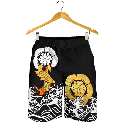 The Golden Koi Fish Shorts A7