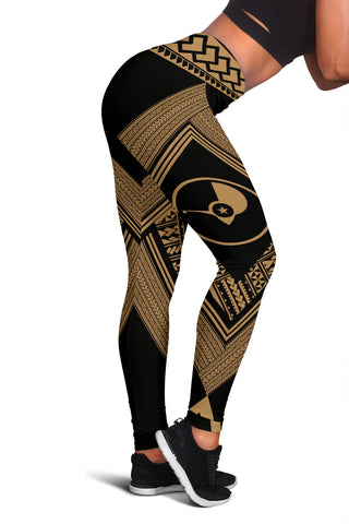 Yap Coat Of Arms Polynesian Leggings - Diamond Style