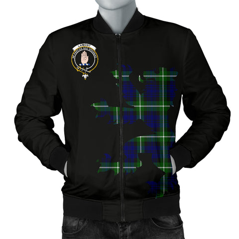 Image of Lamont Tartan Lion And Thistle Bomber Jacket for Men