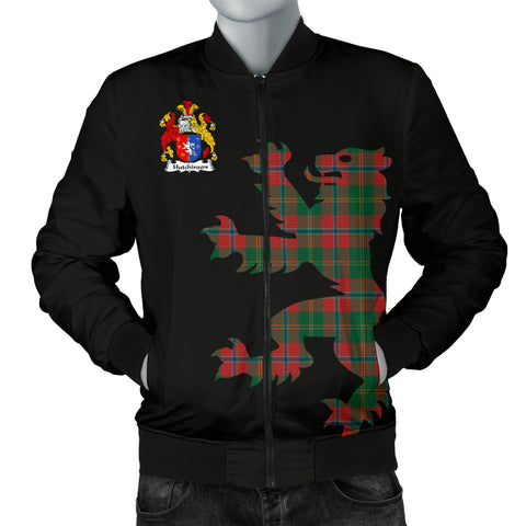 Hutchinson Tartan Lion And Thistle Bomber Jacket for Men